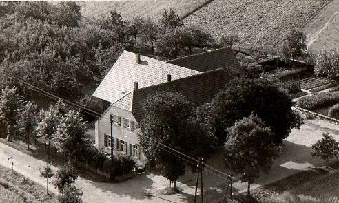 1950 Luftansicht Landgasthof Graes