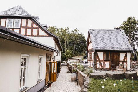 Außenbereich Landhaus Hui Wäller