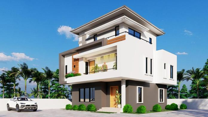 Example of a fully-detached duplex in Nigeria