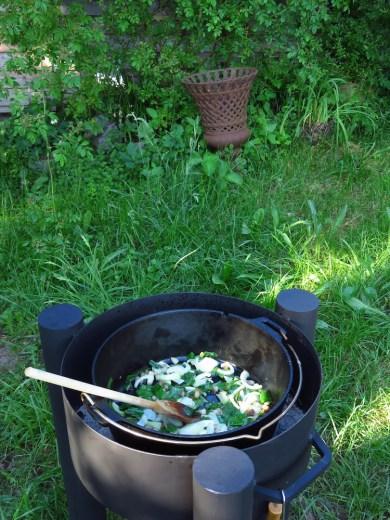 Kochen in der Feuerschale