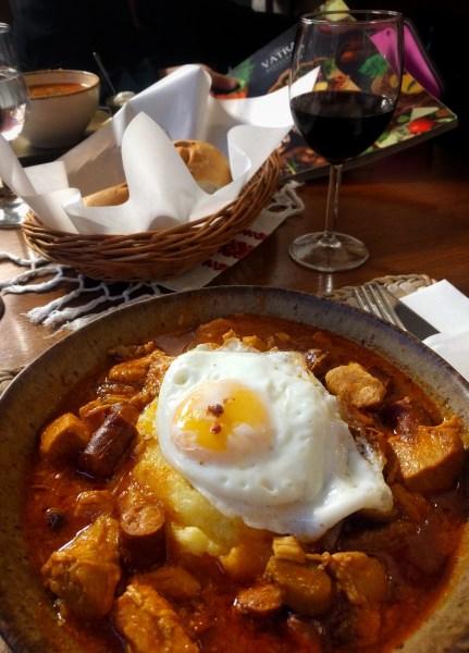 Moldavian sausage egg stew