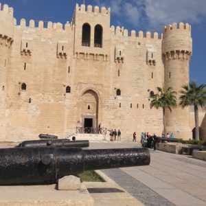 Excursion to Cairo-Alexandria from Hurghada: outside view of the fortress of Qait-Bay