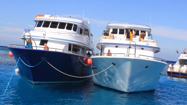 Excursion Snorkeling inTiran from Sharm El-Sheikh: photo of sea yachts in Tiran