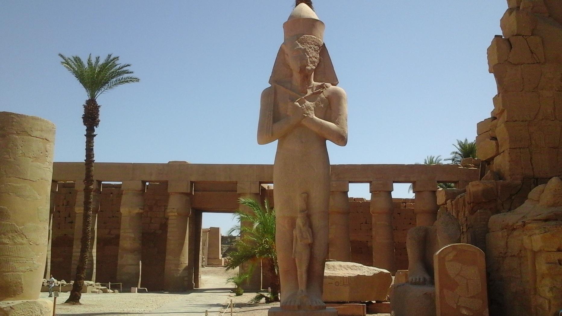 Statues of Ramses II in the temple of Karnak