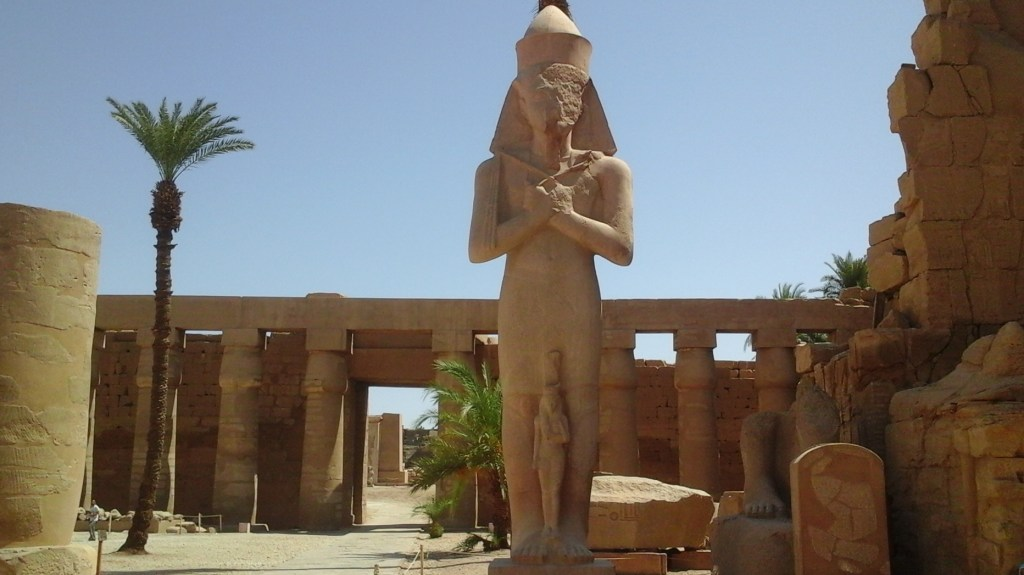 Statues of Ramses II in the temple of Karnak