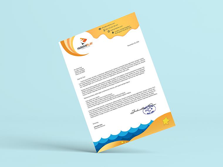 professional letterhead sample