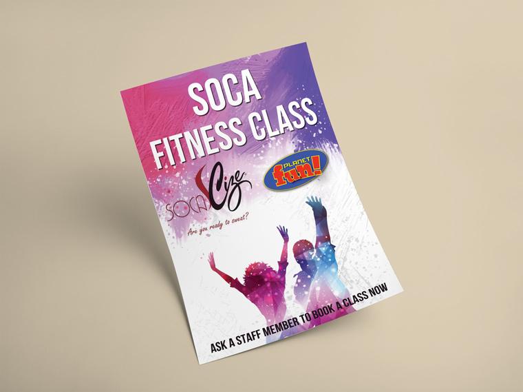 Soca Fitness Class Flyer Design - Landisher