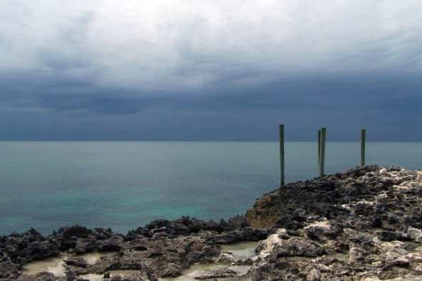 Bahamas storm Rose Island