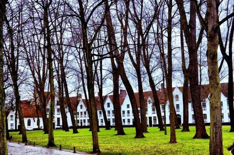 Beguinage in Bruges, Belgium