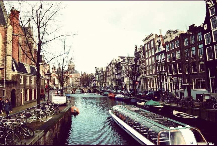 Boating on the Canals of Amsterdam