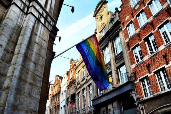 LGBT Pride Flag, Brussels gay belgium
