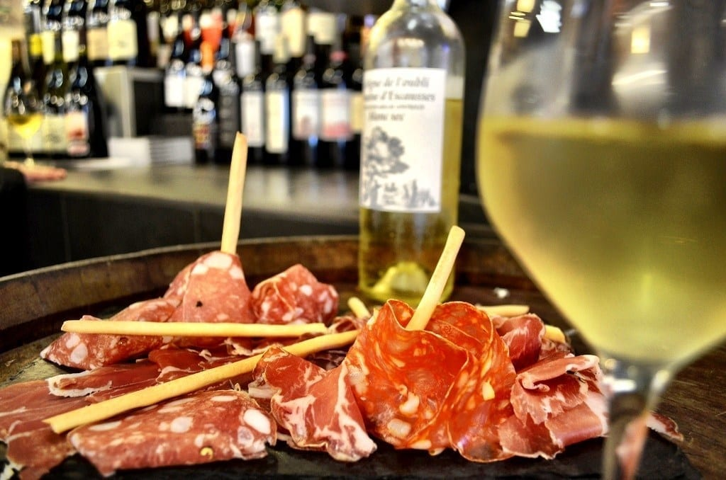 wine france meat
