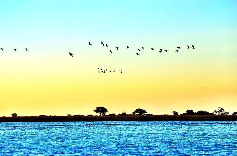 Sunset on the Zambezi Queen