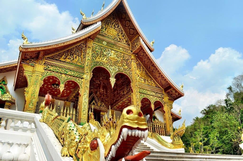Royal Palace Temple in Luang Prabang, Laos