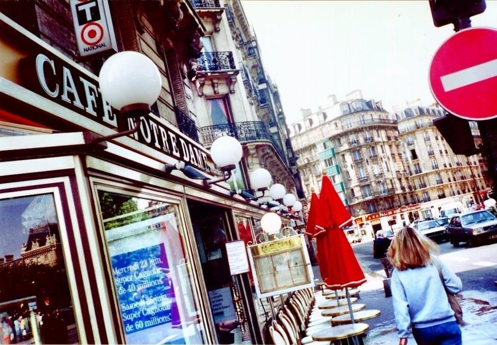 Paris France cafe