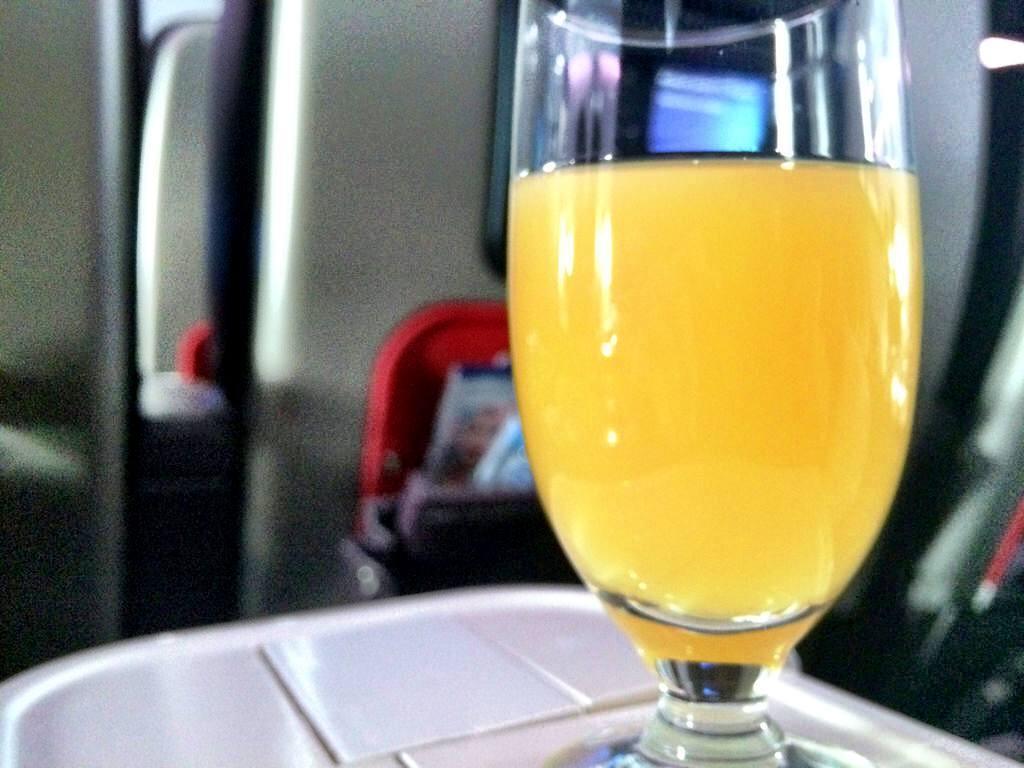 Orange juice Virgin Atlantic