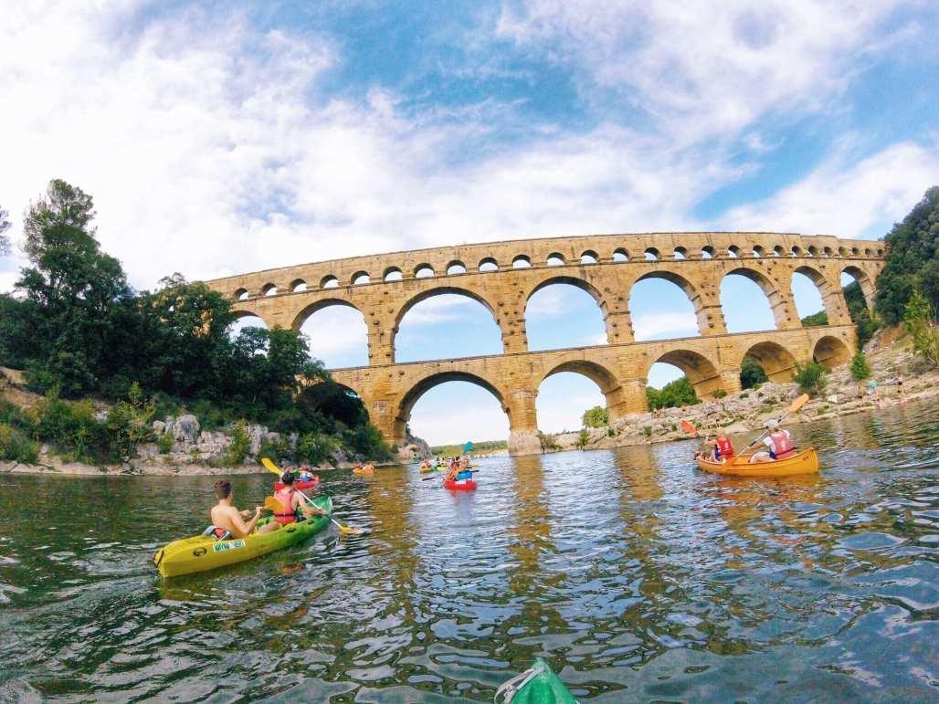 Kayak Pont du Gard France