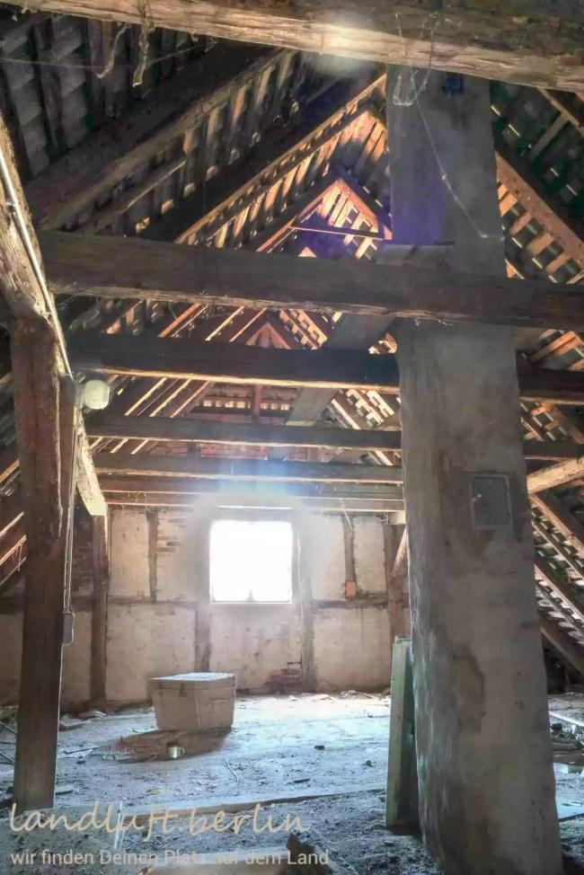 Unausgebauter Teil des Dachgeschosses