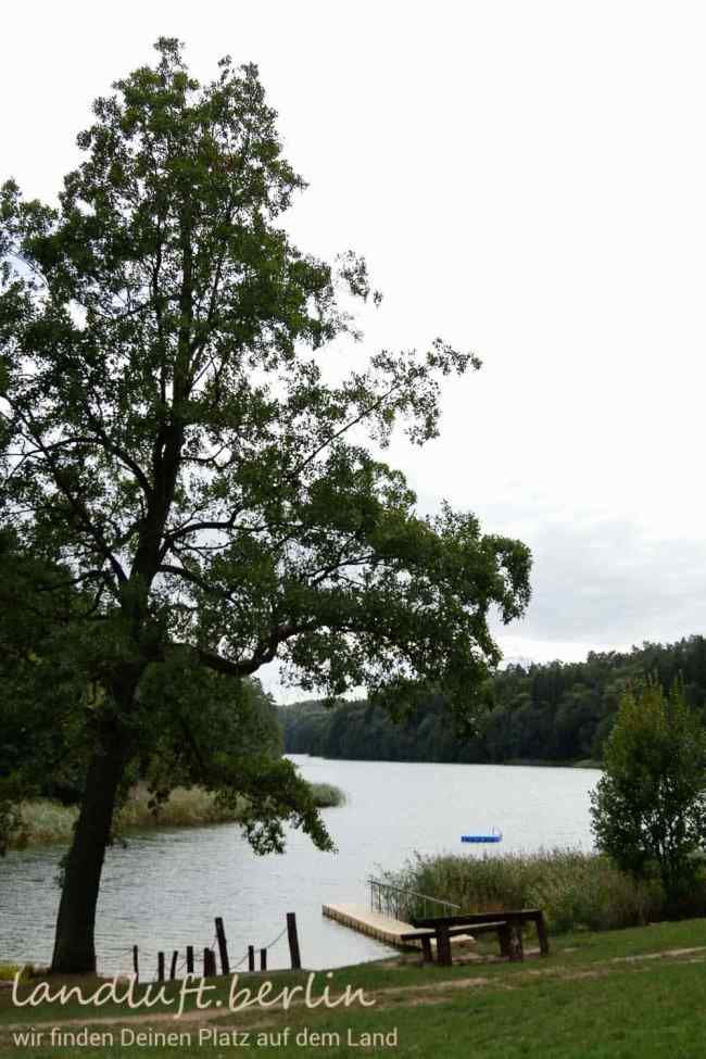 Forsthaus in wunderschöner Naturlage in der Nähe von Berlin zu verkaufen, See mit Badestrand