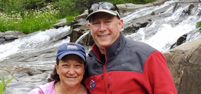 Cheryl & David at Twin Falls, Yankee Boy Basin