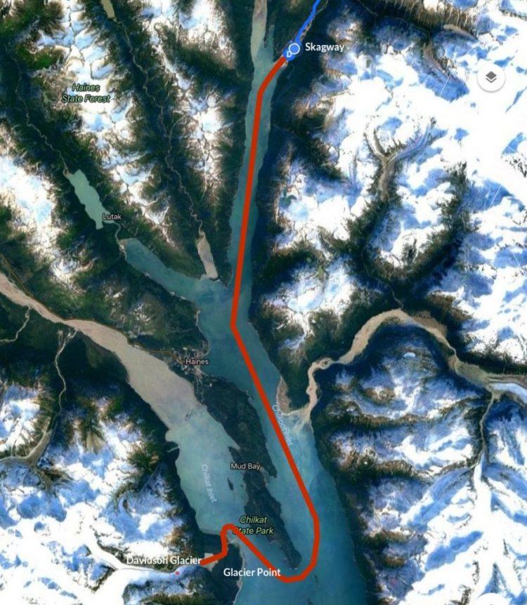 Glacier Point Safari route