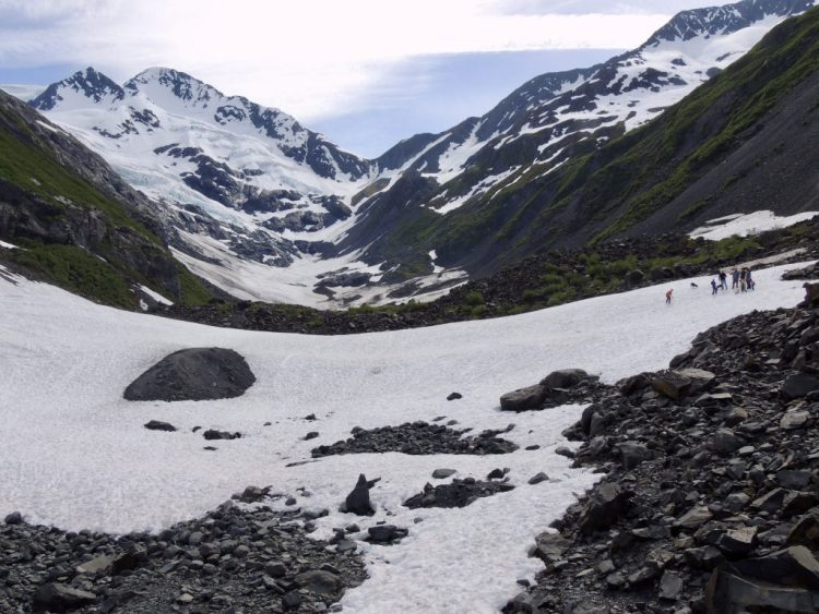 Avalanche field at Byron Glacier