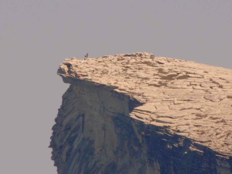 Hikers atop Half Dome
