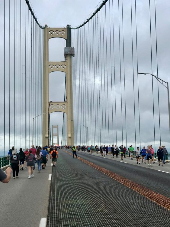 Approaching the north tower of the Bridge