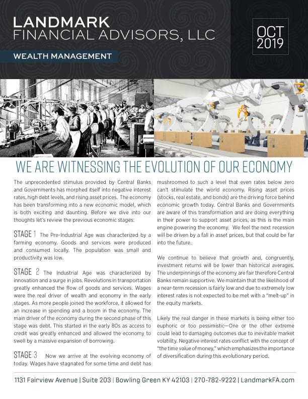 Landmark Financial Advisors OCT 2019 newsletter
