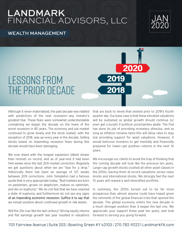 Landmark newsletter JANUARY 2020