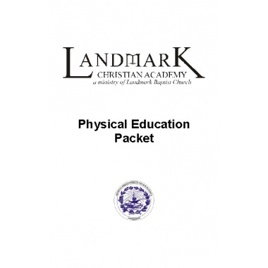 Physical Education Packet (download)