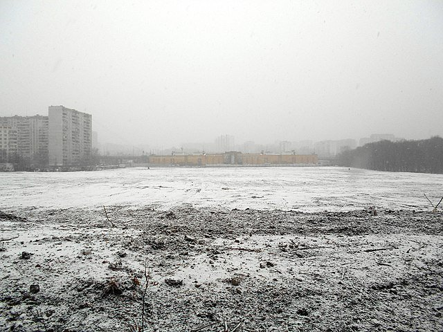 The place where Hovrinskaya hospital stood, March 24, 2019