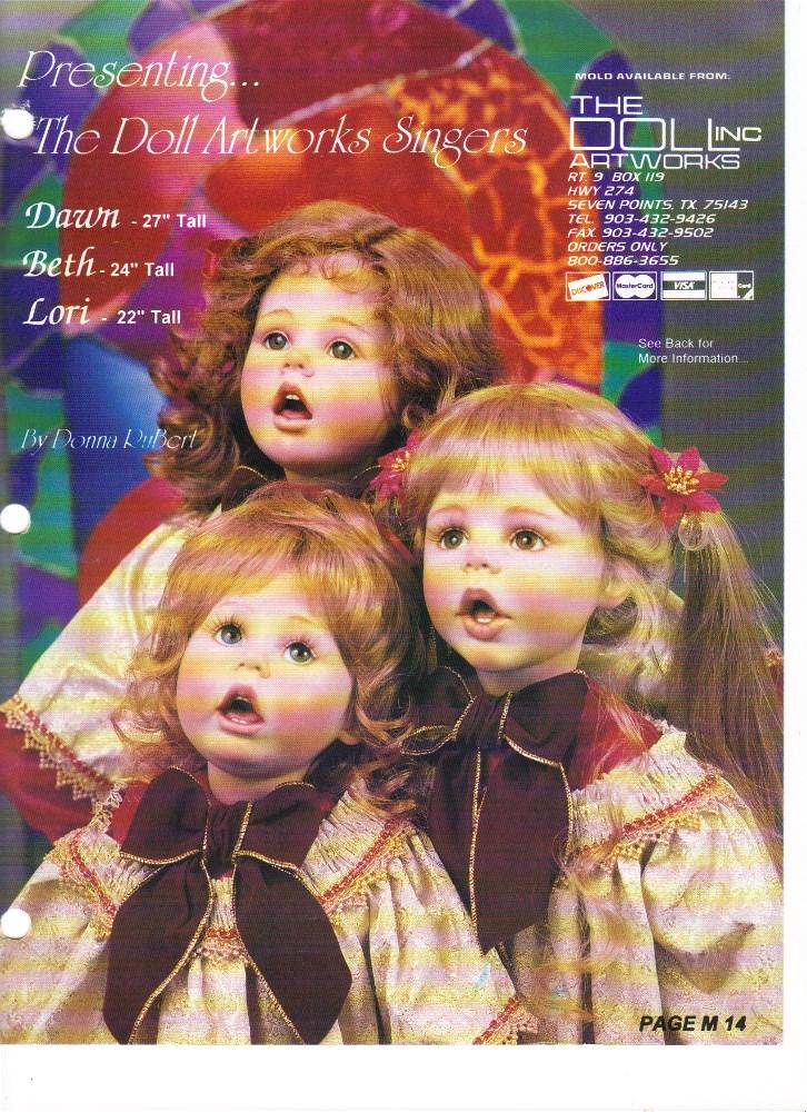 "27"" Dawn, 24"" Beth, 22"" Lori, Small size Dawn, Beth, Lorie"