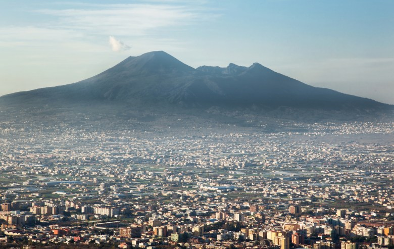 Mount Vesuvius in Naples