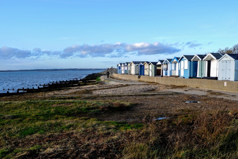 Huts on Brightlingsea Beach, Essex
