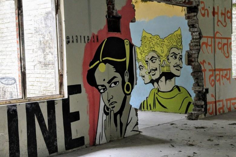 People graffiti, The Beatles Ashram, Rishikesh