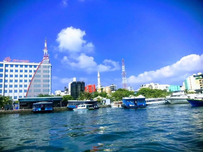 Villingili ferry port in Malé, Maldives