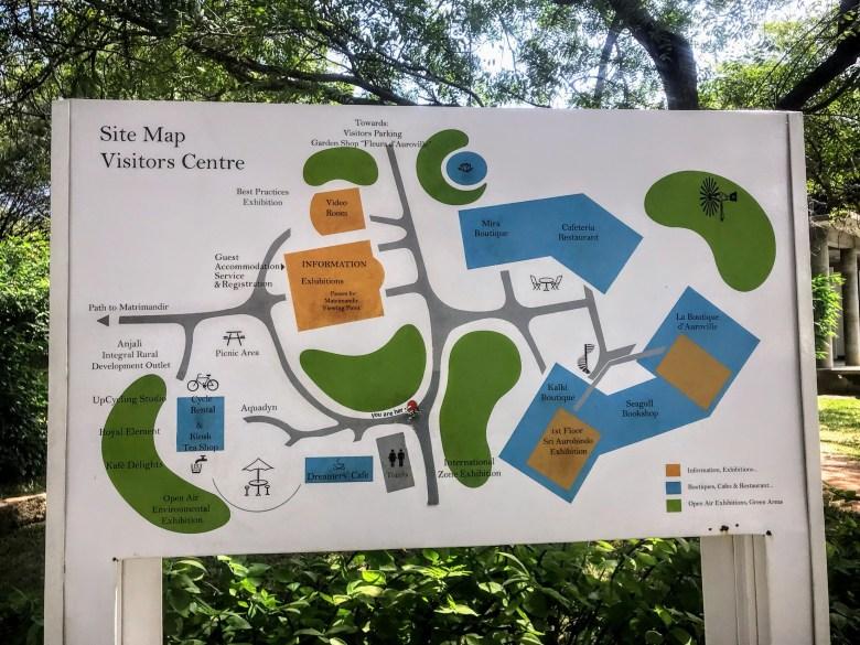 Map of Auroville, Pondicherry