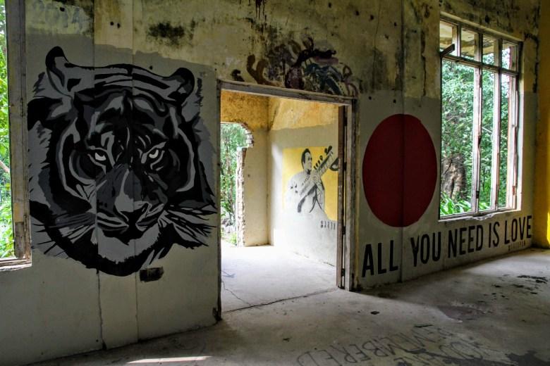 All You Need is Love graffiti, The Beatles Ashram, Rishikesh