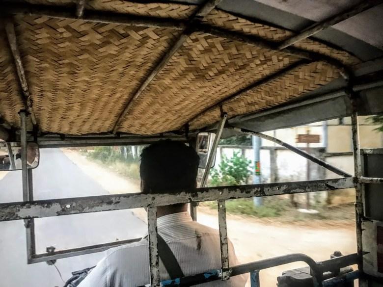 Motorised trishaw in Pyay, Myanmar