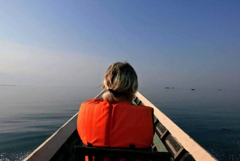 Early morning boat on Inle Lake, Myanmar