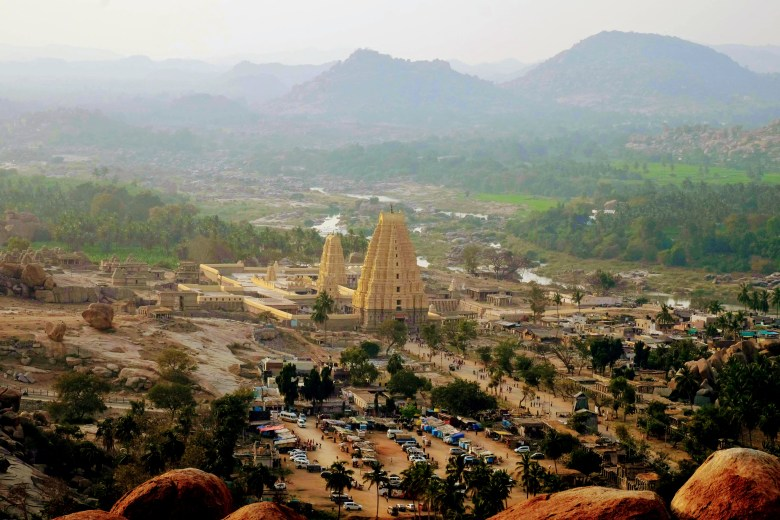 Sri Virupaksha Temple view from Matanga Hill, Hampi, South India