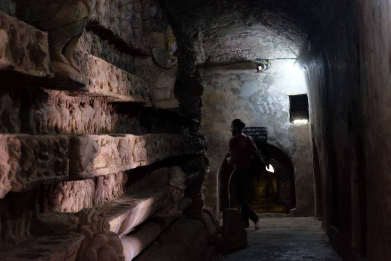 Inside the Shite-thaung Temple, Mrauk U, Myanmar