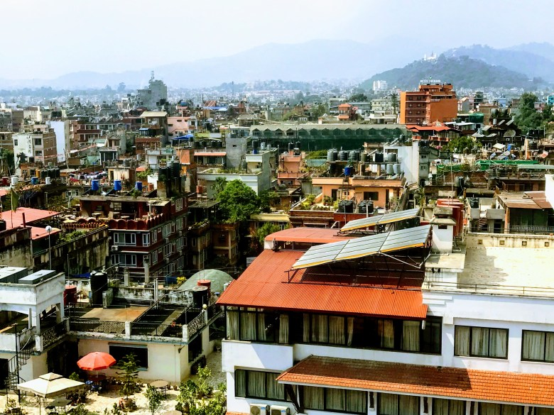 The rooftops of Thamel, Kathmandu, Nepal