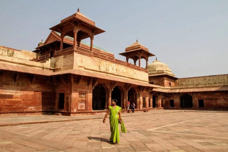 Courtyard in Fatehpur Sikri, North India