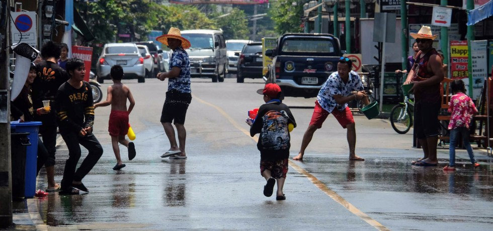 Songkran Water Festival, Pai, Thailand