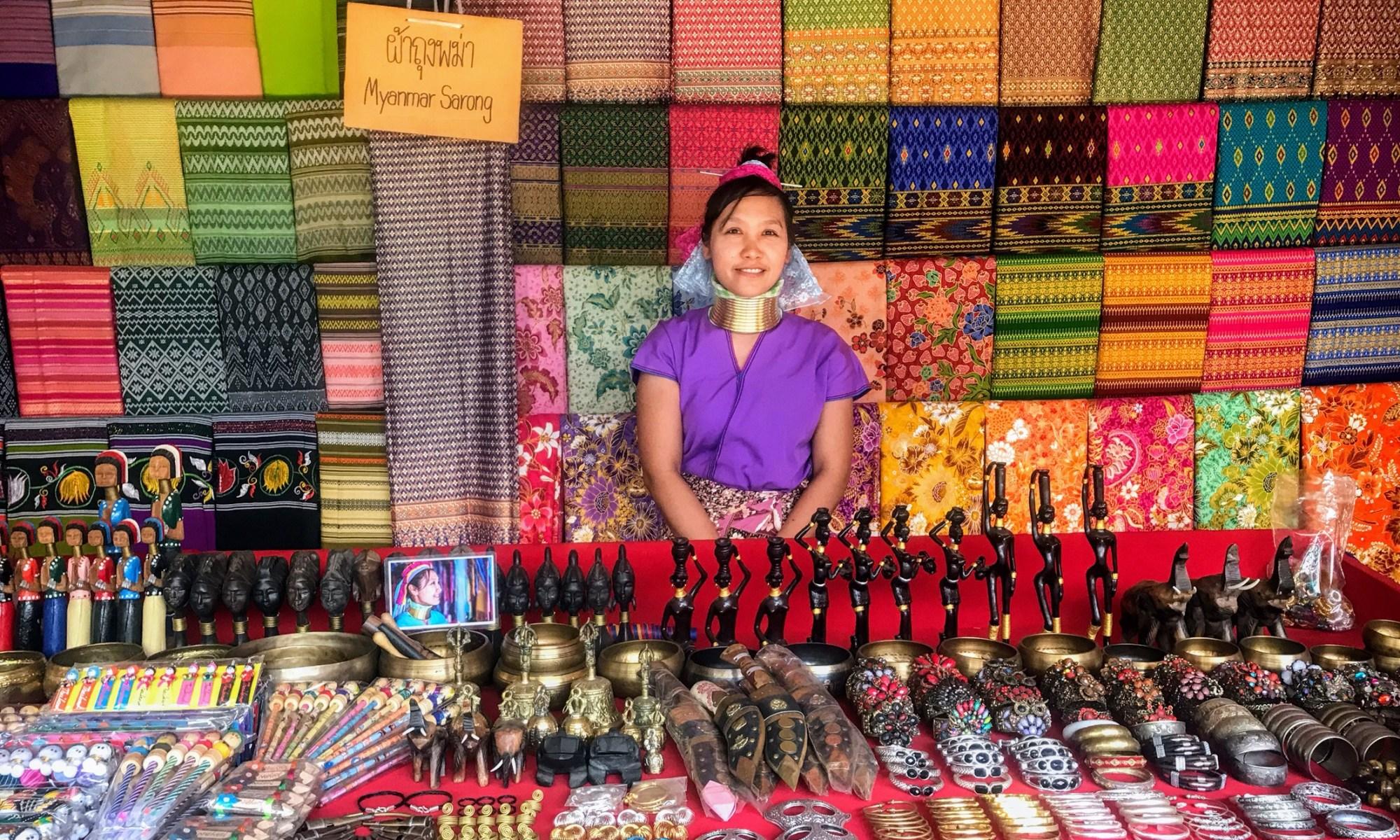 Kayan woman in Mae Hong Son, Thailand