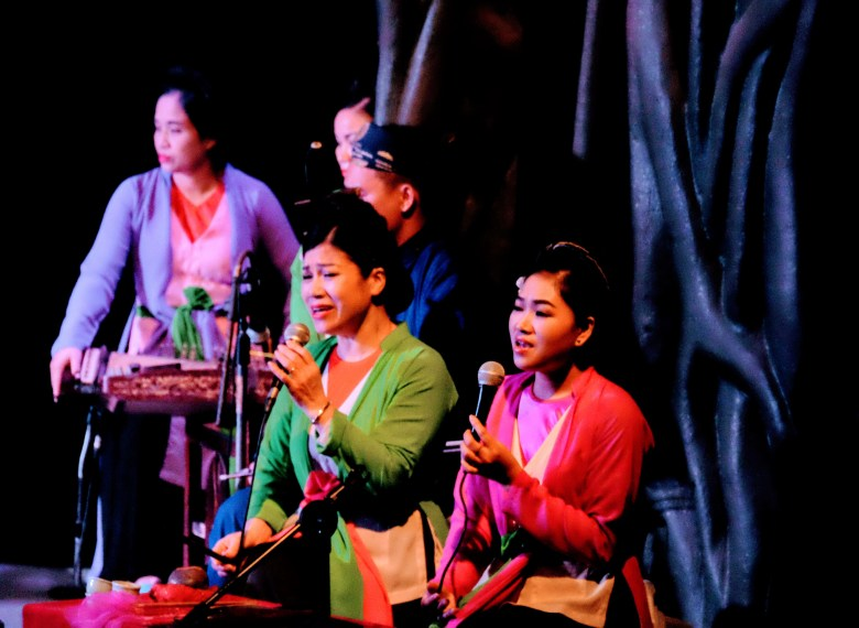 Singers at the water puppet theatre, Hanoi, Vietnam
