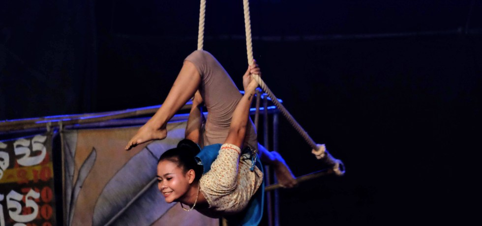 Acrobat at Phare Circus, Battambang, Cambodia