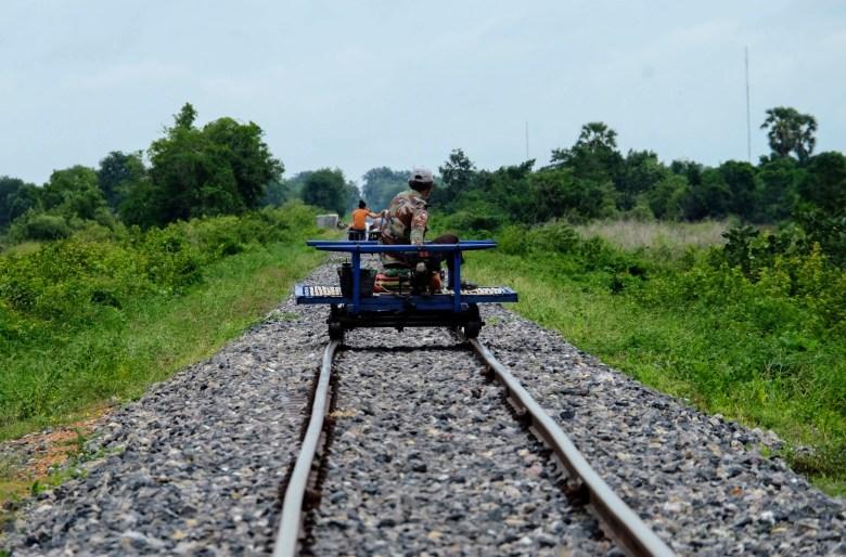 Battambang's bamboo train, Cambodia